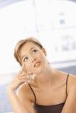 młoda myśląca kobieta Fotografia Stock