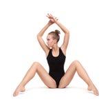 Młoda nikła gimnastyczna kobieta Obrazy Stock
