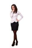 Młoda piękna biznesowa kobieta Obraz Stock