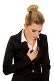 Młoda piękna biznesowa kobieta z zawałem serca Obraz Stock