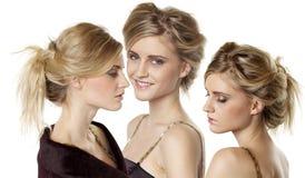 Młoda piękna blond kobieta fotografia stock