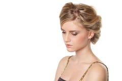 Młoda piękna blond kobieta obrazy royalty free