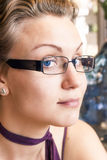 Młoda piękna blond kobieta, zakończenie Obraz Stock
