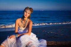 Młoda piękna blondynki panna młoda Obrazy Royalty Free