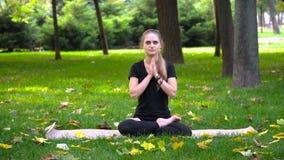 Młoda piękna dziewczyna angażująca w joga Zdjęcie Stock