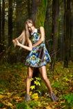 Młoda piękna kobieta moda portret Obraz Stock