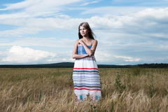 Młoda piękna kobieta mody fotografia Fotografia Stock