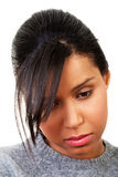 Młoda piękna kobieta w depresji. Zdjęcia Royalty Free