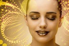 Młoda piękna kobieta w piękno abstrakta pojęciu Zdjęcie Royalty Free