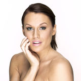 Naturalna piękno kobieta. Zdjęcie Royalty Free