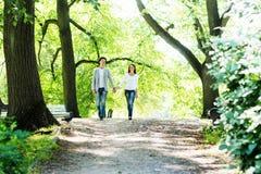 Młoda piękna para jest na dacie i ma spacer w Obrazy Stock