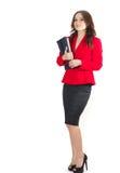Młoda pomyślna biznesowa dama w klasycznym kostiumu Zdjęcie Stock