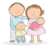 Młoda rodzina ilustracja wektor