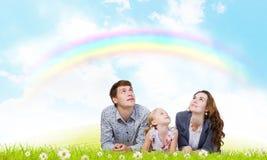 Młoda rodzina Zdjęcie Stock