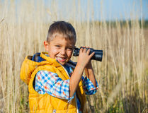 Młoda safari chłopiec Obraz Stock