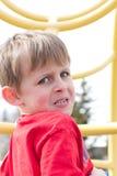 Młoda Straszna chłopiec fotografia royalty free