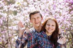 Młoda szczęśliwa miłość Obraz Royalty Free