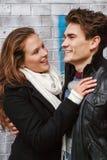 Młoda szczęśliwa para w miłości Zdjęcie Stock