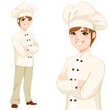 Młoda szefa kuchni mężczyzna pozycja Fotografia Royalty Free