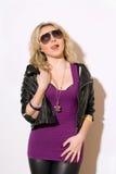 Młoda urocza blond dama fotografia royalty free