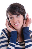 młode ładne słuchawek kobiety Zdjęcie Royalty Free