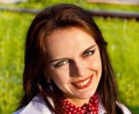 młode śliczne uśmiechnięte kobiety Zdjęcie Royalty Free