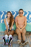 Młode aktywne kobiety Fotografia Royalty Free