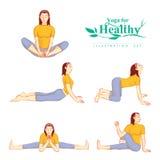 Młode atrakcyjne dziewczyny robią joga dla zdrowego Obraz Stock