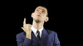 Młode Biznesowego mężczyzna emocje, pomysł zdjęcie wideo