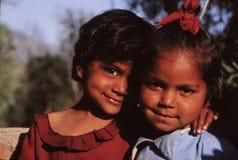 Młode dziewczyny Nepal fotografia stock