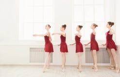 Młode dziewczyny tanczy balet w studiu zdjęcie royalty free