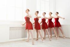 Młode dziewczyny tanczy balet w studiu fotografia royalty free