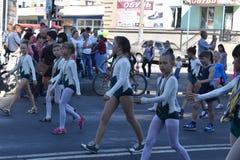 Młode gimnastyczki są dumą Melitopol Fotografia Royalty Free