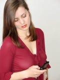 młode kobiety komórkę Fotografia Stock