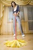 młode kobiety mop Obrazy Royalty Free