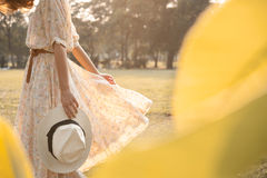 młode kobiety park Fotografia Royalty Free