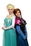 Młode Kobiety Ubierać w Princess Oufits Zdjęcia Stock