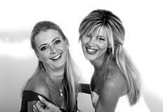 młode portret szczęśliwe kobiety dwa Obraz Stock