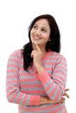 Młodego żeńskiego nastolatka przyglądający up Zdjęcia Stock