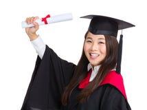 Młodego absolwenta dziewczyny uczeń Fotografia Royalty Free