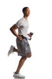 Młodego amerykanina afrykańskiego pochodzenia biegacza Salowy Odosobniony Obraz Stock
