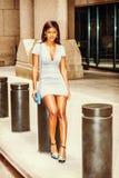 Młodego amerykanina afrykańskiego pochodzenia bizneswomanu Uliczna moda w Nowy Jork Fotografia Royalty Free