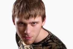 Młodego człowieka gapić się Fotografia Stock