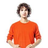 Młodego człowieka poważny target637_0_ przy kamery portret Obraz Royalty Free