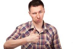 Młodego człowieka seansu gesta aprobaty Obraz Stock