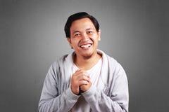 Młodego Człowieka Uśmiechnięty wyrażenie zdjęcie royalty free