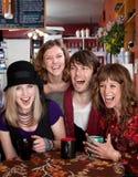 młodego cztery przyjaciela fotografia royalty free