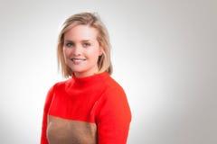 Młodej Ładnej blondynki Korporacyjny Headshot Obraz Royalty Free