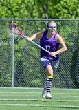 Młodej Dziewczyny Lacrosse gracz fotografia royalty free