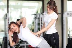 młodej gym kobiety szczęśliwa dwa Obraz Stock